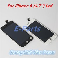 Wholesale For iPhone LCD Display Touch Digitizer with strong cold glue Frame Full Assembly Replacement IOS