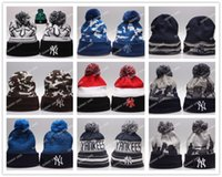Tie-dyeing orange plastic ties - 15 Colors New York Yankees Beanies Winter Warm Cuffed Pom Beanie Jays Beanies Skullies Embroidered Baseball Team logo NY Knit Wool Hat