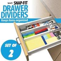 Wholesale 2 Snap Fit Drawer Dividers Kitchen Organizer