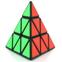 Wholesale Cubo Magico Cube Puzzle Pyramid Shape Magic Cube Ultra smooth Speed Educational Professional Competition Cubo Magic Rubik