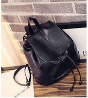 Wholesale 2016 new wave of shoulder bag female sheepskin bag tide travel backpack leisure washed leather college wind backpack yoga bag aerobics backp