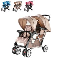 baby umbrella for stroller - Baby Stroller for Twins Double Seats Lightweight Umbrella Stroller Folding Twin Stroller Baby Carriage Prams and Pushchairs JN0011