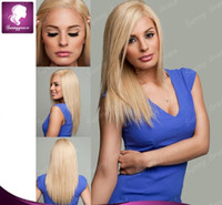 Wholesale SG lace front human hair wigs virgin brazilian blonde lace front wigs straight hair wig free part density