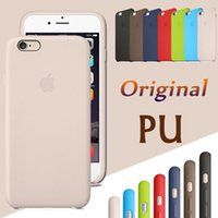 apples logos - For Iphone Original PU Leather Case Official Style Copy Ultra Thin Slim Hard Cover For iPhone Plus S SE S quot quot With LOGO