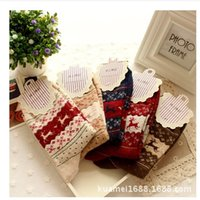 Wool angora blend - Hot Sale Cashmere Dehaired Angora Blended Women Winter Thick Warm Socks Christmas Harajuku Style Xmas socks