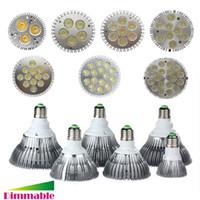 Wholesale E26 E27 LED W W W W W W W Dimmable PAR20 PAR30 PAR38 LED Light LED Ceiling Spotlight Lamp Bulb