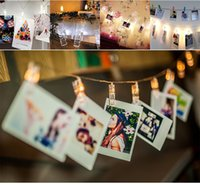 battery operated lamp post - 2 M Led creative colorful hanging lamp self timer photo clip light indoor post card decorative battery operated holiday light string