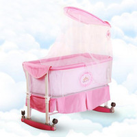 Wholesale Popular Sales Baby Cradle Wheeled Infant Bassinet Newborn Rocking Crib Bed Multifunctional Baby Bed with Mosquito Net VT0408