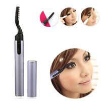 battery eyelash curler - Portable Electric Eyelash Curler Pen Style Heated Long Lasting Makeup Beauty Tools Not Included Battery