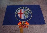 alfa blue - Alfa romeo blue car Flag x ft Polyester
