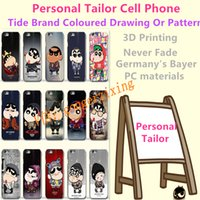 apple personal - Personal Tailor Cell Phone Shell Tide Brand Coloured Drawing Or Pattern Customize Anti Skid Samsung Apple VIVO OPPO HTC Protective Shell