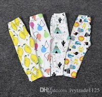 Wholesale 12 styles Ins Baby Kids boy girls leggings pants stripped plaid animals print Harem pants Trousers