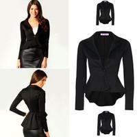 Cheap 2017 Brand Blazer Women Slim Black Office Suit Jacket Ladies Single Breasted Tuxedo Formal Business Women Blazers and Jackets