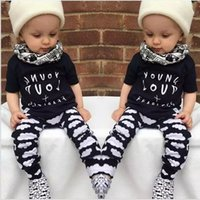 Wholesale Baby Boy Clothes Summer Kids Clothes for Boys Short Sleeve Baby Boy Clothing Set Toddler Children Boys Clothing tz1036
