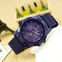 air sea shipping - Cloth Woven Rope Sports Watches Sea and air Military Wristwatches For Man Women Four Colors Min order
