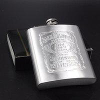 Wholesale Free DHL With Box Portable Stainless Steel Hip Flask oz Embossed Flagon Flasks Russian Wine Beer Whiskey Bottle Alcohol Drinkware