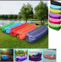 beach types - Fast Inflatable Camping Sofa banana Sleeping Lazy Chair Bag Hangout Air Beach Bed chair Couch Sleeping Bag T D LJJK656