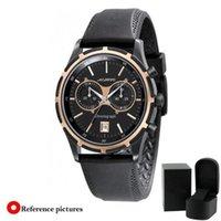 Reloj AR0584 AR0583 de los mejores de la calidad de la marca de fábrica del lujo de la manera del negro de la correa del caucho negro al por mayor de la correa con la caja original 2 años de garantía