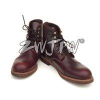 achat en gros de mens bottes de l'armée en cuir-US Army Soldier Tactical Combat Short Boots Chaussures de combat pour hommes Outdoor Leather Brown