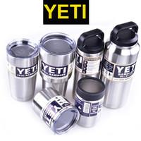 Wholesale Yeti oz oz oz oz Cups Cooler YETI Rambler Tumbler Travel Vehicle Beer Mug Double Wall Bilayer Vacuum Insulated OTH242