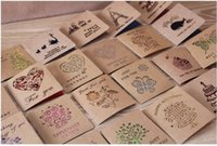 Wholesale South Korea hollow out creative birthday kraft paper greeting card gift business thanks to the message card holiday greeting card