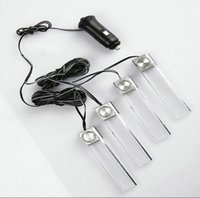 Strips amber rgb - V Car RGB LED DRL Strip Light car foot Decorative LED Strip Atmosphere Lamp Kit