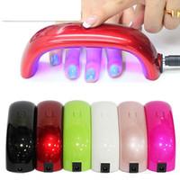 venda por atacado nail art machine-Mini Arco-íris Nail Art Lâmpada 9W 3pcs LED Lights Bridge Shaped Mini Cura Nail Dryer Lâmpada ferramentas Care Machine para Gel UV com Cabo USB