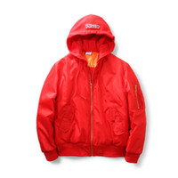 airport fashion - Red cotton padded jacket and cap baseball uniform short flight suit jacket coat female qiu dong weibo at the airport