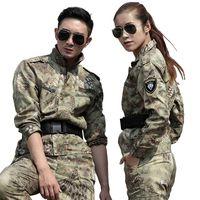 Wholesale Tactical Gear Black Yellow Python Tactical Uniform Outdoor Combat Camouflage Suits Men Training Uniforms Wearproof Tatico Jacket sets Jack