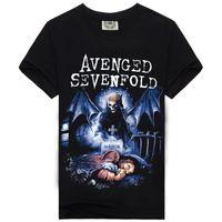 avenged sevenfold t shirts - 2017 New Arrival Amazing Fashion Rock Music Avenged Sevenfold Character Men T shirt Cotton High Character Screen Print