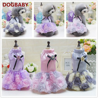baby puppy costumes - Baby Dog Clothes Princess Bowknot Rose Accessory Puppy Dress