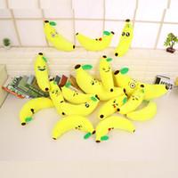 banana processing - Plush toys Funny banana doll cartoon qq expression Banana plush doll embroidery printing custom processing logo
