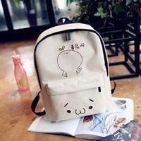 academy bags - Trend of Korean cartoon Canvas Shoulder Bag Handbag expression fashion leisure backpack Academy Students