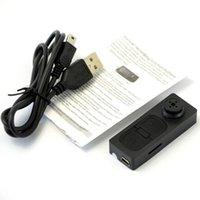 Wholesale Black mini camera NEW Mini spy button camera Hidden DV Camera Button Video PC Spy DVR Voice Recorder HD DVR Cam A0060