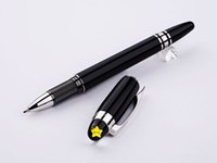 Wholesale Black RollerBall Pen Crystal Cap Metal Writing Ink Pen Free Pen Refills