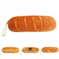baguette french bread - Novelty Creative Lifelike French Bread Pencil Case Soft Cute Baguette Pen Bag Lovely Kawaii Stationery School Office Supplies