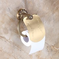Wholesale And Retail New Style Antique Brass Bathroom Paper Holder Toilet Paper Holder Tissue Bar Holder