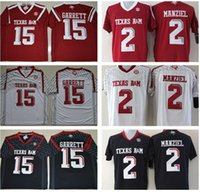 al por mayor fútbol universitario ncaa-Texas AM Aggies 15 Myles Garrett Jersey 2 Johnny Manziel Jerseys 9 Ricky Seals Jones 40 Von Miller Rojo Negro Blanco Hombres Fútbol Americano Universitario NCAA