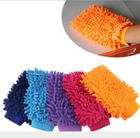 Wholesale Microfiber Snow Neil fiber car wash mitt car washing gloves towel