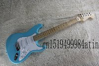 Wholesale New Arrival ON SALE F Stratocaster Sky Blue Custom Body Maple Fingerboard Electric Guitar In Stock