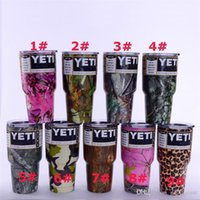 Wholesale Camo oz oz camouflage yeti cups cup flowers wooden Stainless Steel oz yeti Tumbler Cup Insulation Cup Tumbler Mug