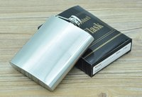 Wholesale Free DHL High Quality Portable oz Stainless Steel hip flask with Box as Gift Whiskey Honest Flask Bottle Mug Whisky
