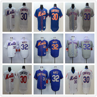 Wholesale New York Mets Michael Conforto Baseball Jerseys Blue White Gray Embroidery Logos Steven Matz Jersey Accept Mix Orders