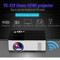 Android4.4 Mini Projecteur 1500 Lumens Théâtre LED 3D Projecteur Support Full Hd 1080p Vidéo Lecteur multimédia Hdmi Téléphonie mobile sans fil