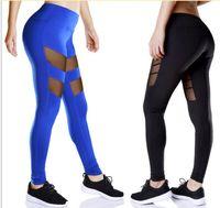 Wholesale Yoga Sports Leggings For Woman Sports Tight Mesh Yoga Leggings Comprehension Yoga Pants Women Running Tights Women