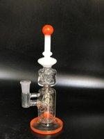 Verre bong tube droit Prix-2017 nouvelle arrivée droite mini tube d'eau de recyclage en verre / bong de verre. Couleur slime, joint mâle de 14 mm. livraison gratuite