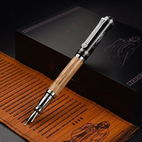 bamboo fountains - Duke Classic quot Confucius quot Bamboo mm Curved tip Iridium Nib metal Fountain Pen with Luxury Original Gift Box Ink Pens for Gift