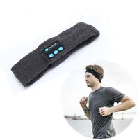 banded earplugs - bluetooth Earphone For Iphone Handband Edge Yoga Hat Sport Cap Headset Wireless Hand Band Earplug Music Player Handphone Handfree Beanie