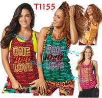 Wholesale Women FITNESS Paradise dance yugo clothes Tee Back to Black T1155