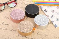 Wholesale Mini Mental Bluetooth Speaker Subwoofer Portable Wireless Stereo Speakers TF Card Call Function DHL In Retail Box